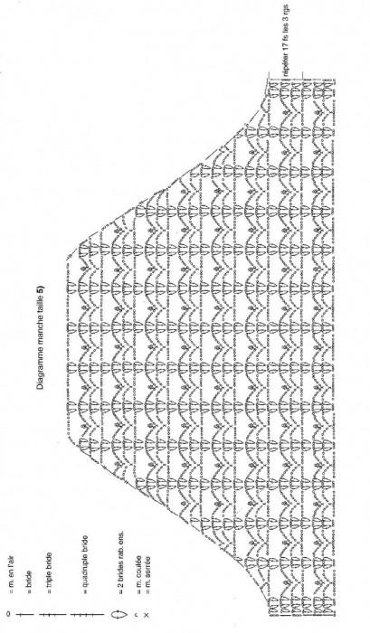 цельный купальник крючком схема