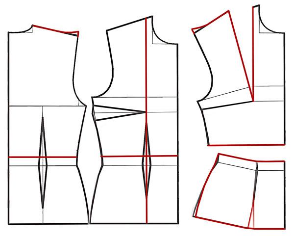 Выкройка рукава для платья построение
