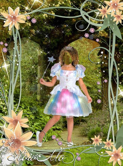 SlowMo, Pphotoshop, Templates for photoshop, Psd, Psd-исходники, Шаблоны для фотошопа, Костюмы, Фотомонтаж, Девочка, Принцесса, Лес, Цветы, Волшебство/1334340136_Young_princes_Cover (500x673, 181Kb)