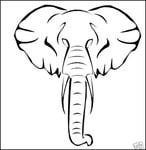 Превью Elephant stencil (476x489, 34Kb)