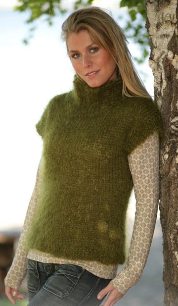 Вязание жилетки из мохера для женщин 54 размер 2638