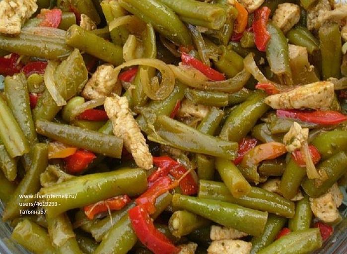 Немецкий салат из зеленой стручковой фасоли (700x512, 137Kb)