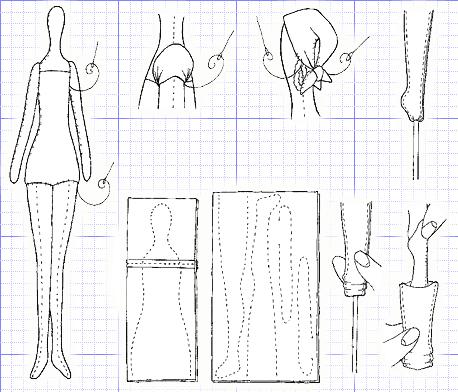Выкройки текстильных кукол тильда 178