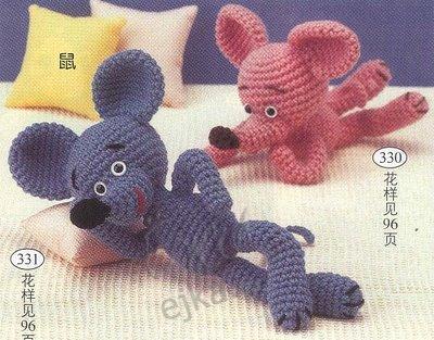 мышки - вязанные игрушки