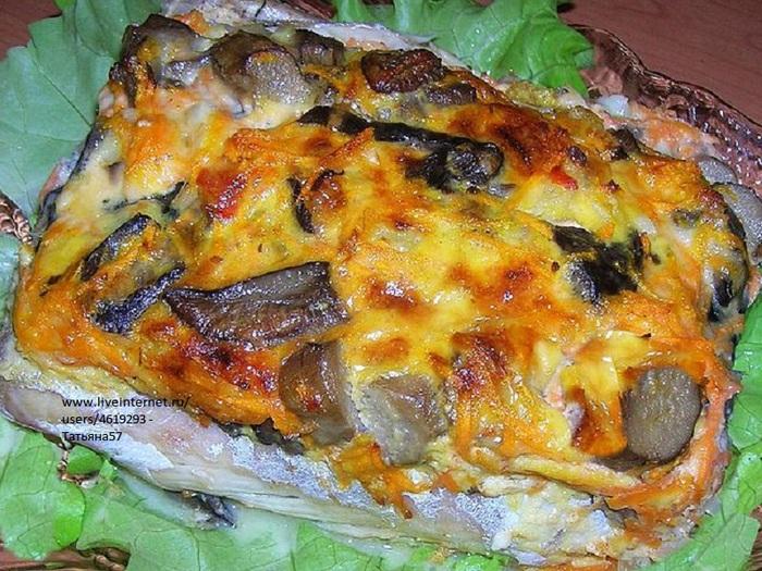 Скумбрия с грибами и сыром. (700x525, 190Kb)