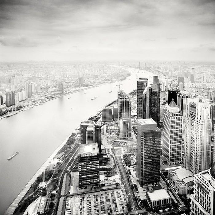 Красивые черно белые фото Шанхая от Martin Stavars 18 (700x700, 148Kb)