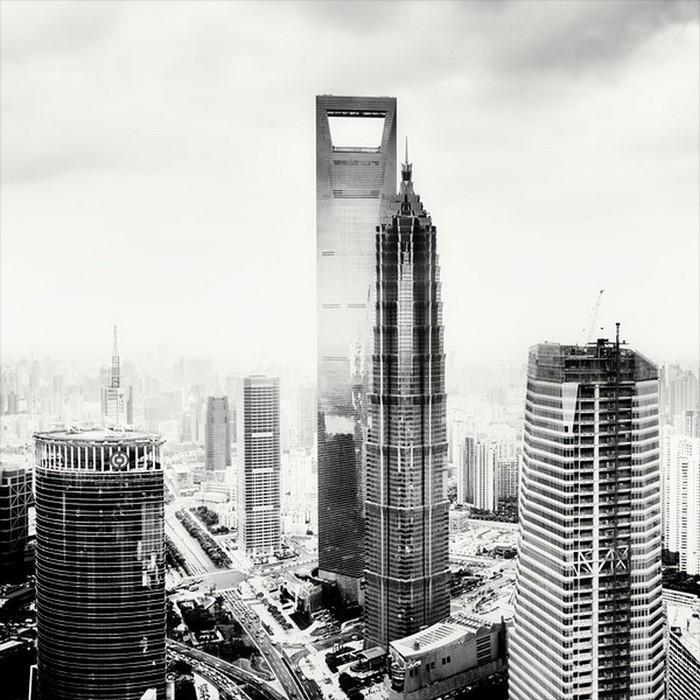 Красивые черно белые фото Шанхая от Martin Stavars 19 (700x700, 126Kb)