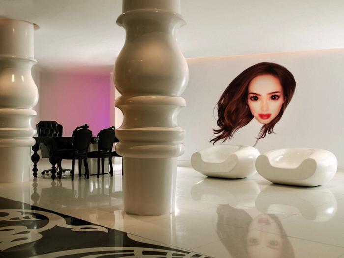 Удивительно красивый дизайн отеля Mondrian South Beach 2 (700x525, 119Kb)