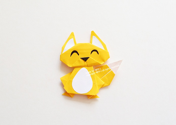 Как сложить маленького лиса?