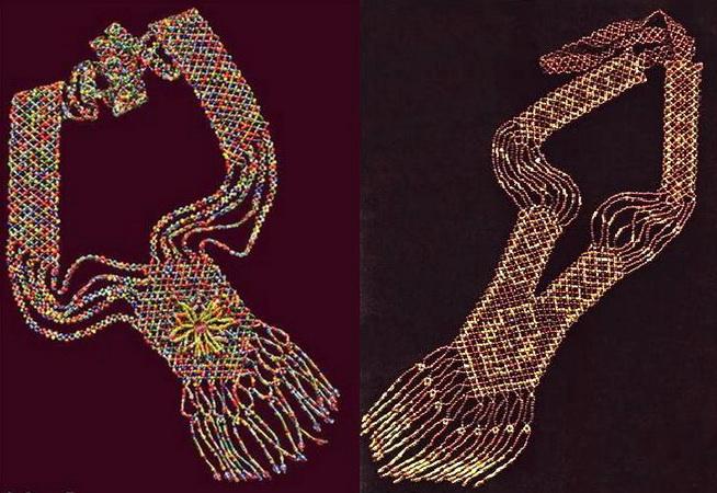 Бисерное шитьё и точечная роспись на Руси.