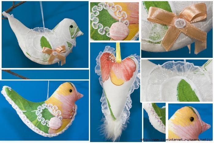 Птица из ткани Коробочка идей и мастер-классов