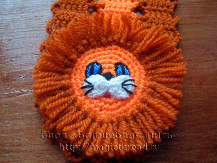Вязание спицами детских шарфов 7