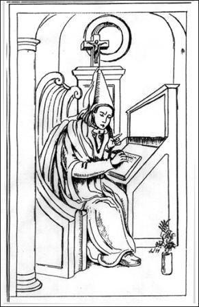 Współczesny rysunek przedstawiający Nawojkę odbywającą pokutę w klasztorze (wg grafiki z XVIII w., kolekcja JM) (291x448, 67Kb)