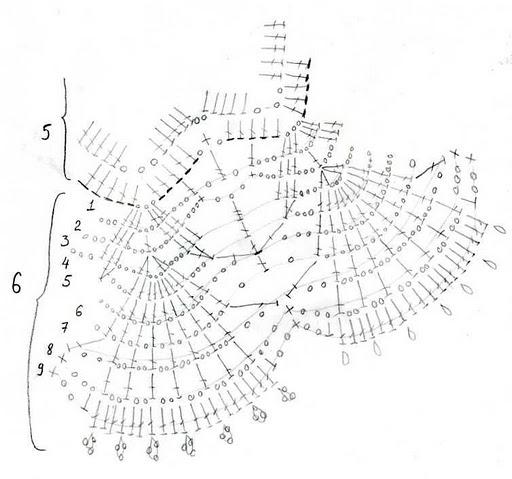 Летняя вязаная юбка цвета морской волны-sxema 3 (512x479, 51Kb)