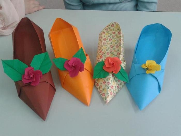туфелька для золушки оригами.