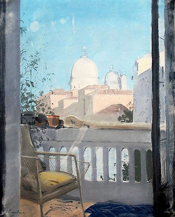 Dimitri Bouchéne (1893-1993) Venise. Balcon. Gouache sur carton (563x700, 297Kb)