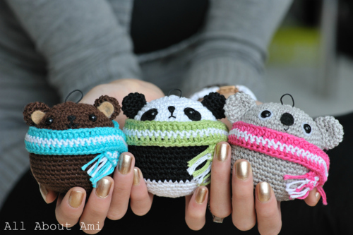 Kartinka - Amigurumi - Teddy Ornaments from Ami - 1 (500x333, 151Kb)