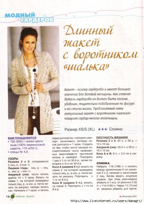Вязание жакетов для женщин с описанием