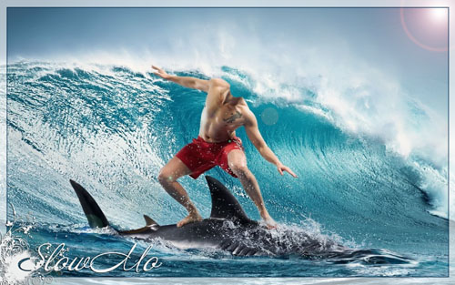 SlowMo, Pphotoshop, Templates for photoshop, Psd, Psd-исходники, Шаблоны для фотошопа, Костюмы, Фотомонтаж, Серфингист, Серфер, Акула, Море, Волна, Surfer/1334859930_Surfer (500x313, 76Kb)