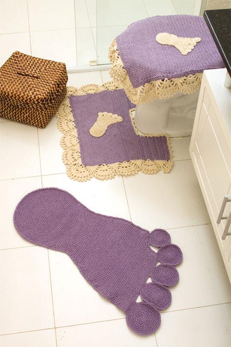 钩针:地毯和毛巾的花边(儿童) - maomao - 我随心动