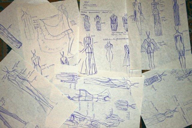 рисунки одежды: