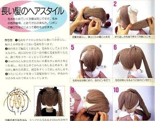 Волосы тильде из мулине
