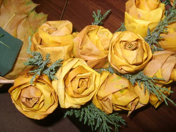 Сухие розы поделки