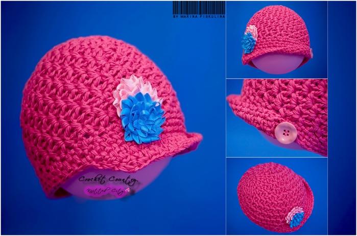 钩针:女孩帽子 - maomao - 我随心动