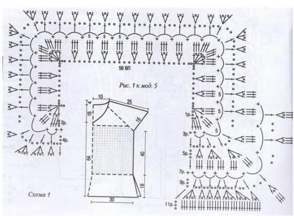 73Kb)Схемы кокеток крючком