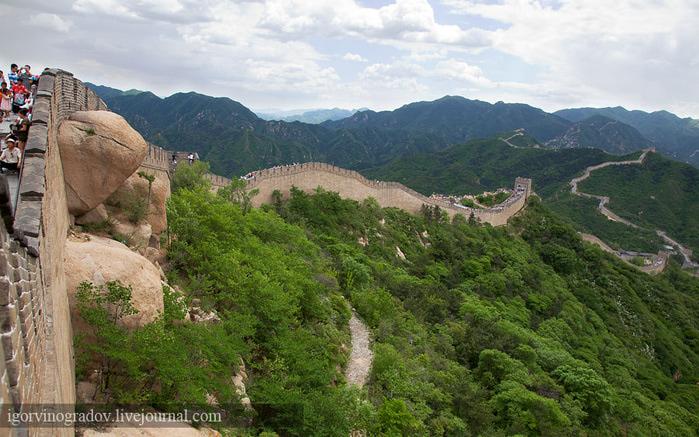 китай китайская стена фото из космоса
