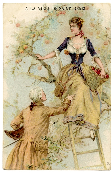 french couple vintage image GraphicsFairy (452x700, 286Kb)