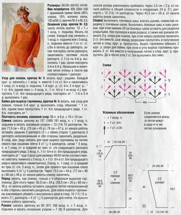 Схемы вязания летних туник 76