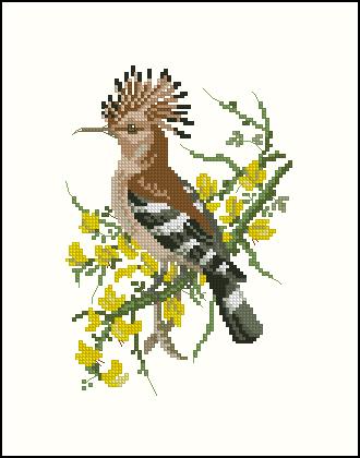 Птицы. Вышивка крестом