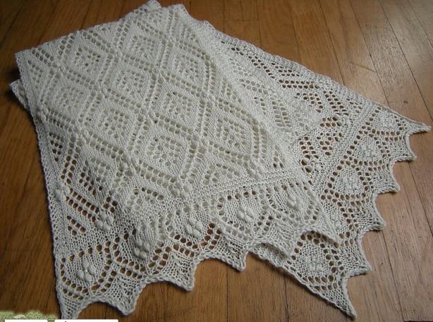 Нарядный палантин-шарф