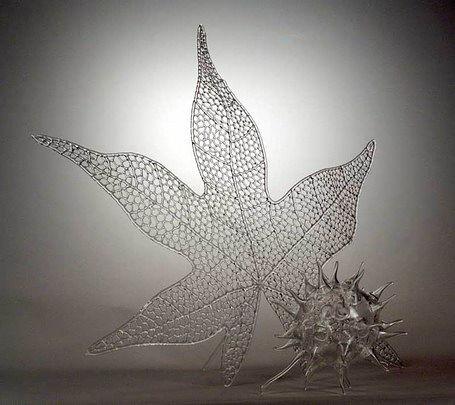 Работы из прозрачного стекла мастера стеклодува Roberta Michelsena.