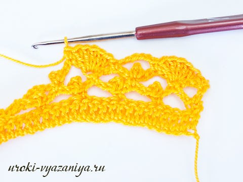 Как связать шарф крючком для начинающих