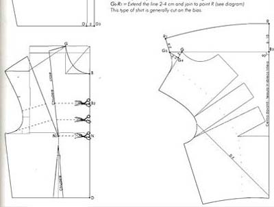 Как сшить блузку водопадом 77