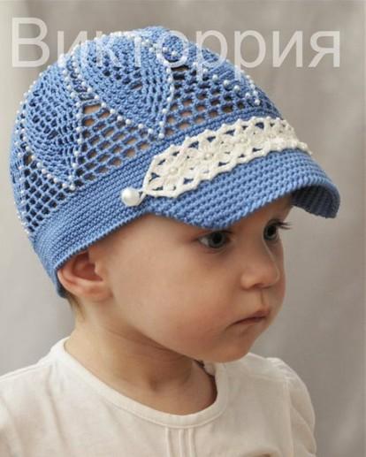 Ажурная кепочка с козырьком малышам/4683827_20120423_101420 (414x517, 53Kb)
