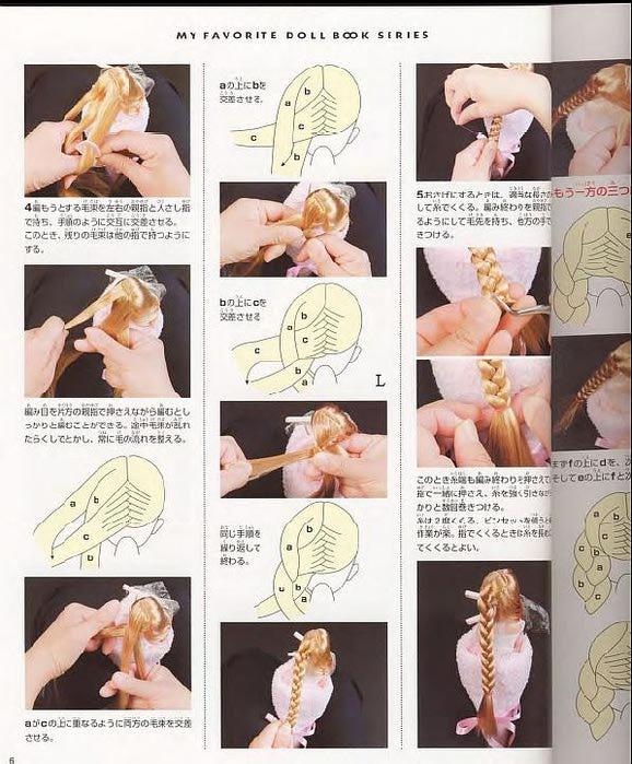 Схемы причесок для кукол