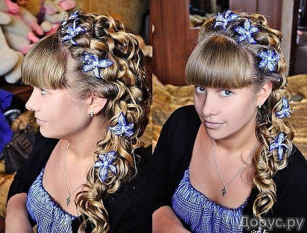 Прически на выпускной школы длинные волосы