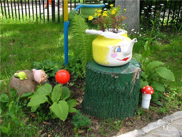 как можно украсить огород с фото