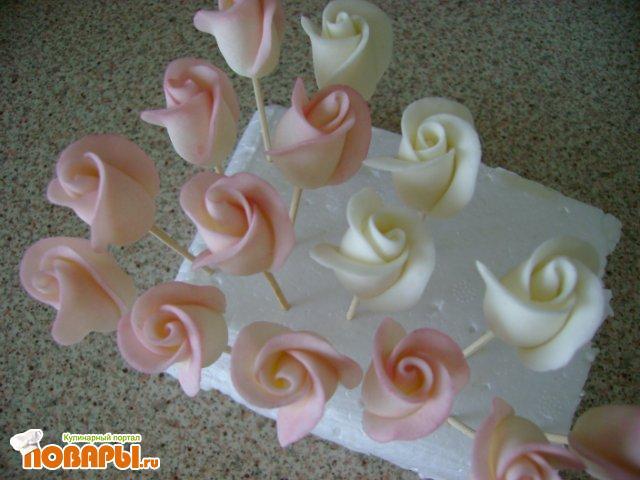 Цветы из мастики рецепт
