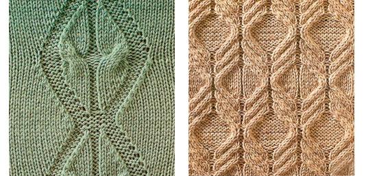 Вязание спицами кайма из кос 99