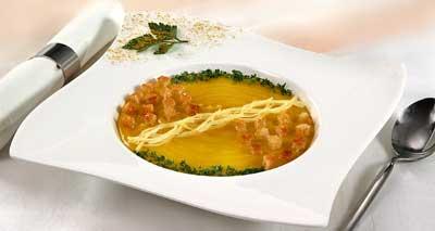 Суп-пюре картофельный с пикантными гренками