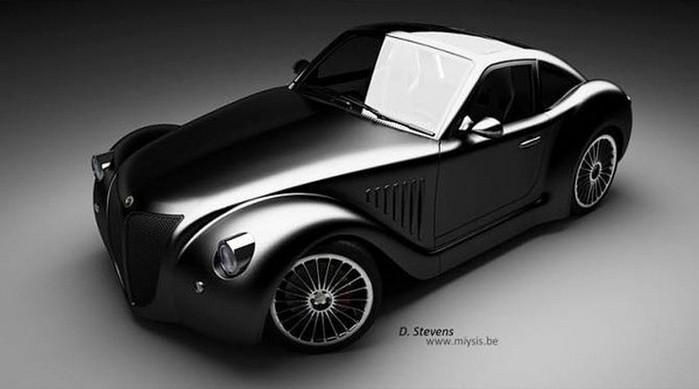 Концепт кар в стиле винтаж - Imperia GT 4 (700x389, 41Kb)
