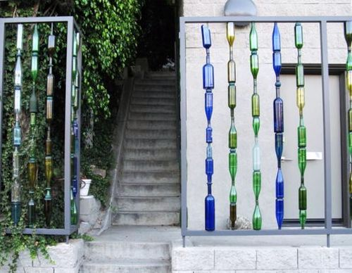 Декоративный шар из пластиковых бутылок для сада и дачи - Поделки