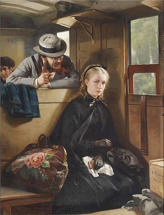 Berthold Woltze (German, 1829-1896) The Irritating Gentleman 1874 (533x700, 295Kb)
