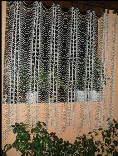 Вязаные шторы крючком