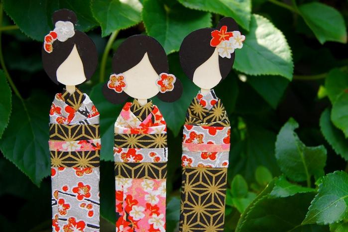 Японские куколки мастер класс  #6