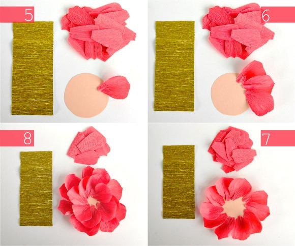 Цветы из гофрированной бумаги своими руками для